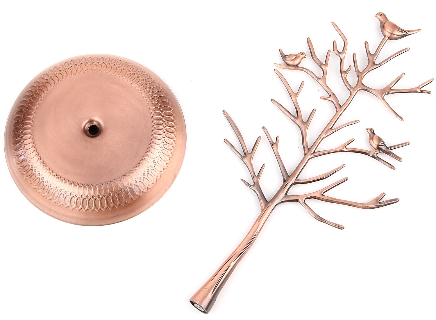 WELL-STRONG Earring Ring Holder Necklace Bird Decoration Jewelry Tower Tree for Girl Bronze by WELL-STRONG (Image #5)