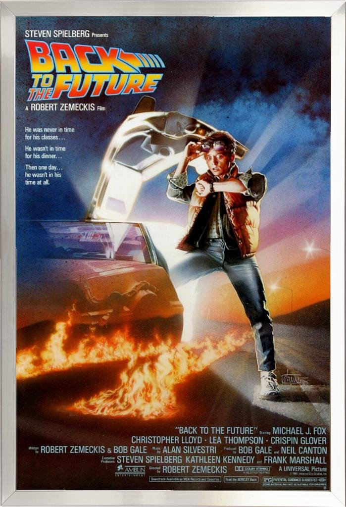 Image result for back to the future movie poster