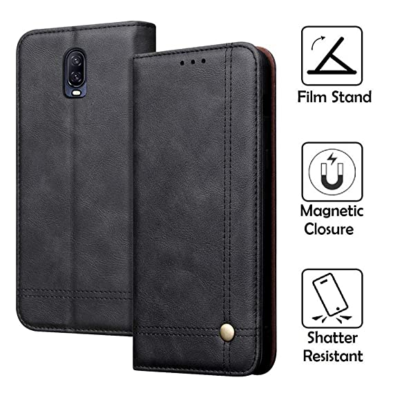 lowest price 06e0f 63407 REAL-EAGLE OnePlus 6T Case, Oneplus 6T Wallet Case,OnePlus 6T Premium PU  Leather Wallet Protection Case with [Kickstand] [Card Slots] [Magnetic ...