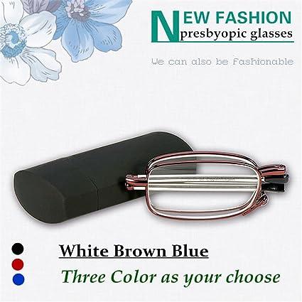 dd11f34e79 YouJi Folding Reading Glasses Easy Carry Metal Frame Compact Size Older Man  Anti Fatigue Clear Eyewear
