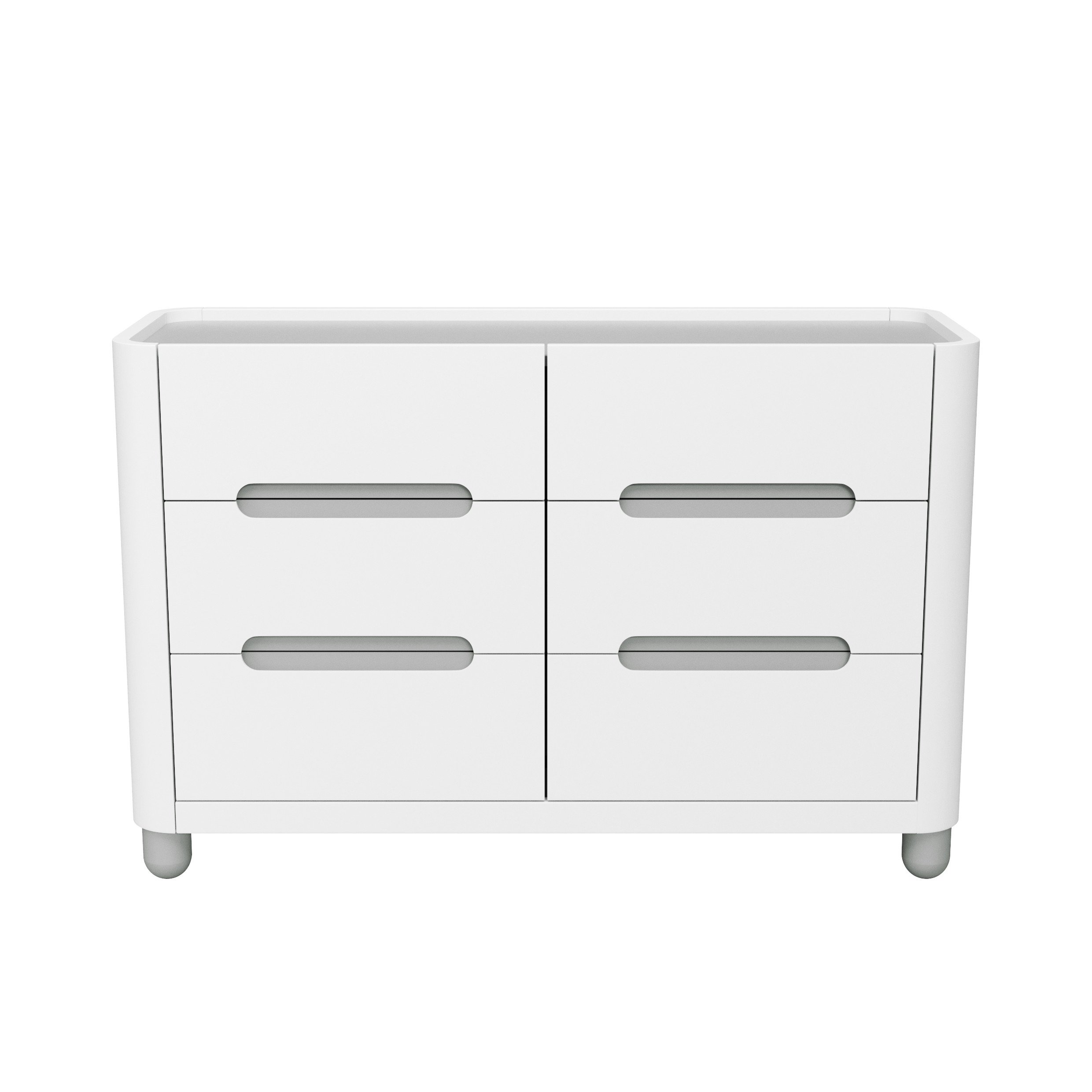 Storkcraft Roland 6 Drawer Dresser, White/Pebble Gray, Kids Bedroom Dresser with 6 Drawers, Wood & Composite Construction, Ideal for Nursery, Toddlers Room, Kids Room by Storkcraft