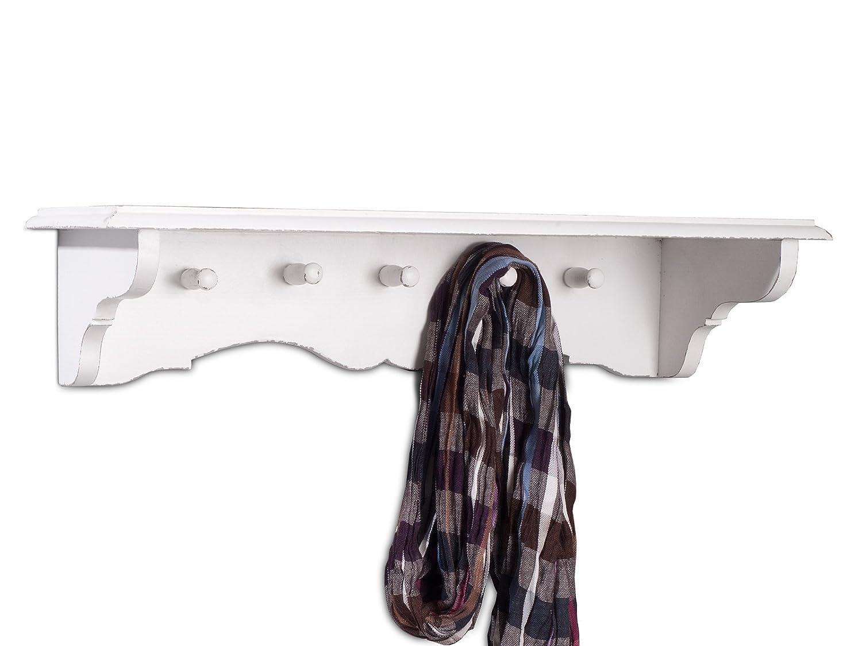 massivum Estante de Pared Perchero 70 cm Color Blanco ...