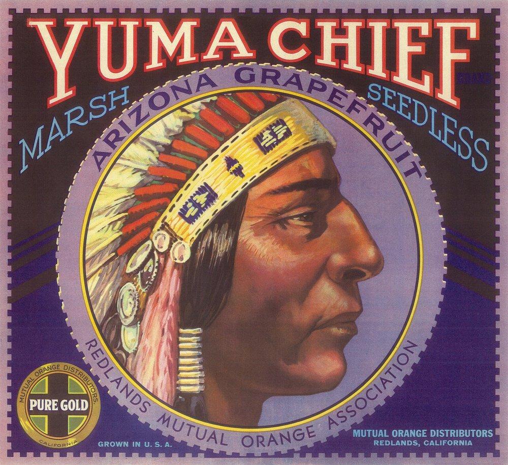 Yuma Chiefオレンジラベル 36 x 54 Giclee Print LANT-4556-36x54 36 x 54 Giclee Print  B01MG3OHHU