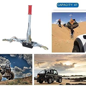 burrby 4 Tonnen Kabel Abzieher, 3 Haken Heavy Duty Hand Seilwinde ...