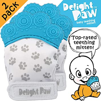 Amazon.com: Delight Paw - Manopla de dentición para bebé ...