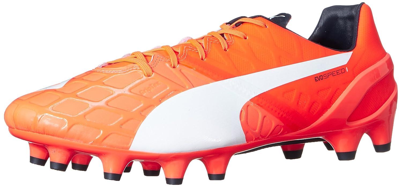 PUMA Men's Evospeed 1.4FG Soccer Shoe B00QJ0FEYM 10.5 M US|Lava Blast/White/Total Eclipse