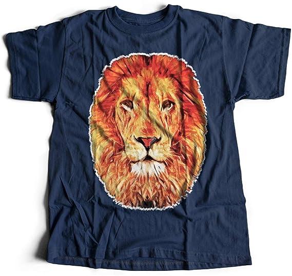 dbb7556604c4fc A001-060n Leo Herren T-Shirt Lion Abstract Art Hipster Fashion King Rasta   Amazon.de  Bekleidung