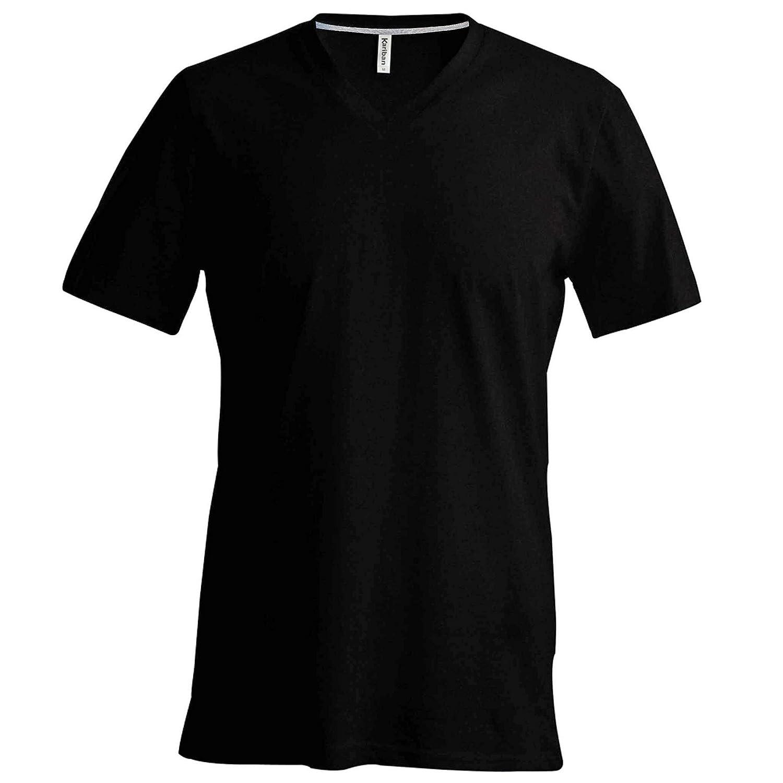 Kariban Mens Short Sleeve V Neck Slim Fit T-Shirt