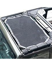 JoyTutus Fits Jeep Wrangler Sun Shade Mesh Roof for JK JKU Sunshade 2007 to 2017