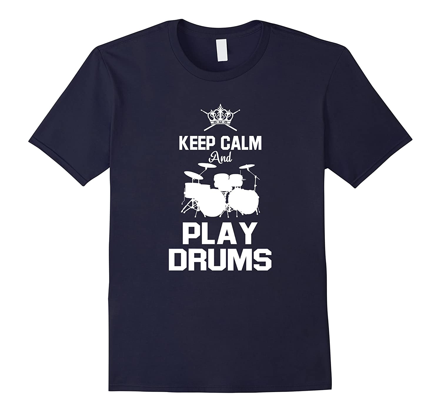 Keep Calm  Rock Drummer Tee for those who love drums-CD
