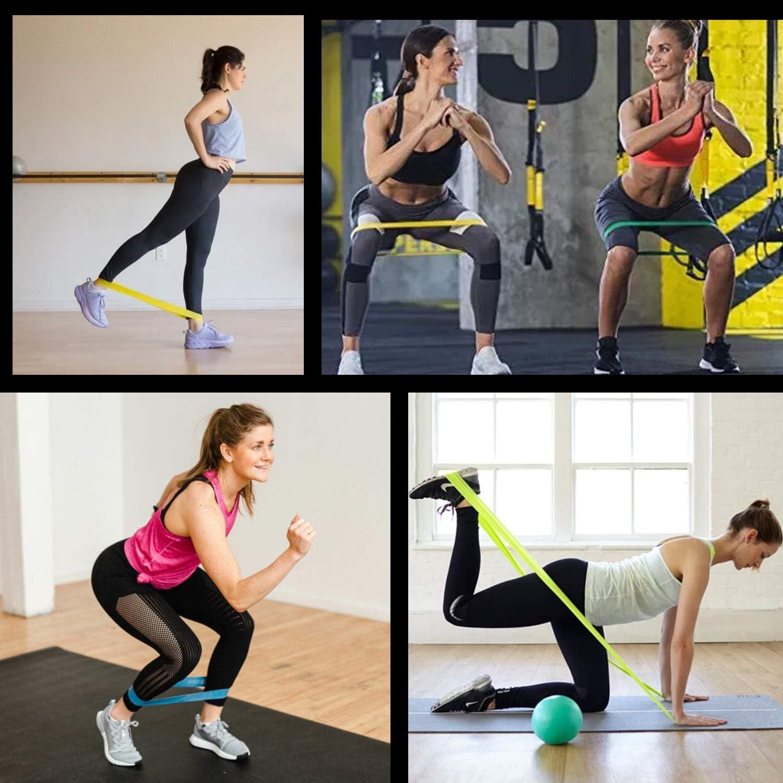 ZWOOS Bande Elastique Musculation Sac de Rangement Inclus Bande de Resistance Fitness Elastique de Sport Musculation pour Musculation//Pilates//Yoga