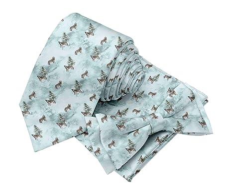 BESTMAN Corbata de lazo estampada corbata con accesorios de ...