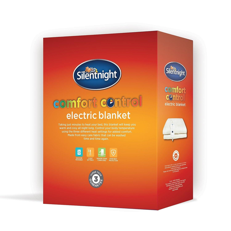 b0df0c2b2e8 Silentnight Comfort Control Washable Electric Blanket - 3 Heat Settings -  Double  Amazon.co.uk  Kitchen   Home