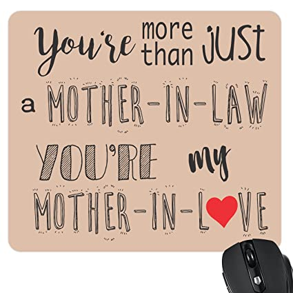 YaYa Cafe Mother In Love Mousepad For Law Birthday Gifts