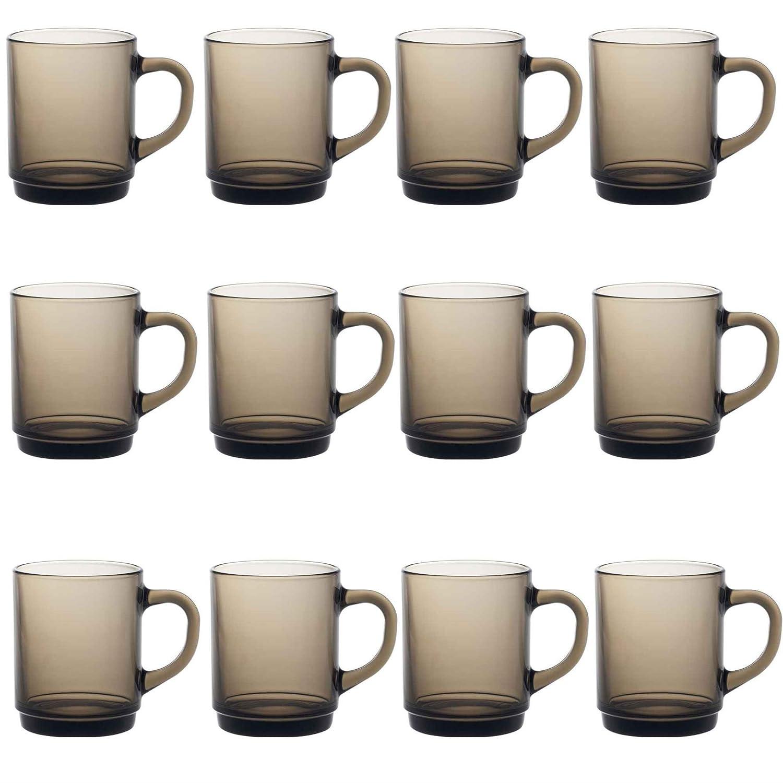 Duralex Versalles café / té taza bebidas calientes - 260ml - Ahumado - Paquete de 12: Amazon.es: Hogar