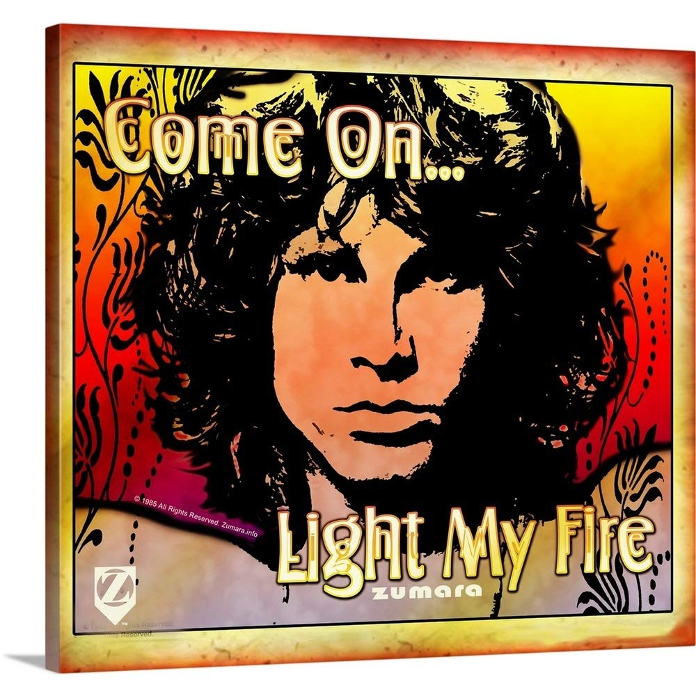 Gallery-Wrapped Canvas Entitled Jim Morrison Light My Fire 1 by Great Big Canvas 16''x14''