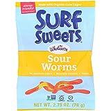 Organic Sour Vegan Gummy Worms, 2.75 oz. Bag
