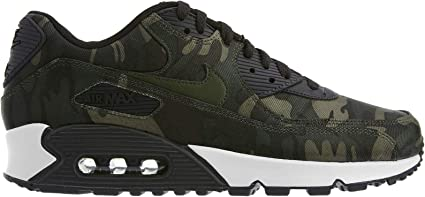 Oblea Jugar con perspectiva  Nike Women's Air Max 90 CSE Camouflage-Print Sneakers, Oil Grey/Cargo  Khaki-White (US 8.5): Amazon.co.uk: Sports & Outdoors