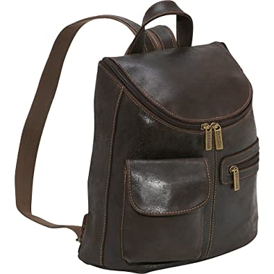 Amazon.com: Le Donne Leather Distressed Leather Womens Backpack ...