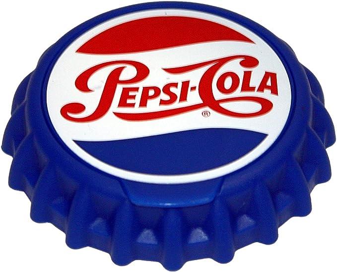 Red//White//Blue Jokari 18011P1 1 Count Pepsi Heritage Logo Snap and Sip Can Cap