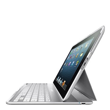 Belkin F5L149eaWHT Folio Blanco - Teclados para móviles (Blanco, Apple, iPad 2,