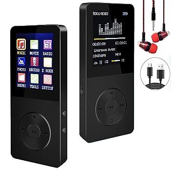 Amazon.com: Reproductor de MP3/MP4, reproductor de música ...