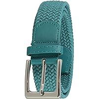 FASHIONGEN - Cinturón Elástico Trenzado en Cuero Genuino Verdadera para Hombre y Mujer, para Pantalones Vaqueros…