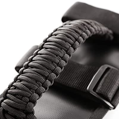 Rugged Ridge 13505.30 Black Paracord Grab Handle Kit for 55-current Jeep CJ/Wrangler/Gladiator: Automotive