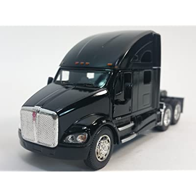 Kinsmart Black Kenworth T700 Tractor 1/68 S Scale Commercial Diecast Truck: Toys & Games