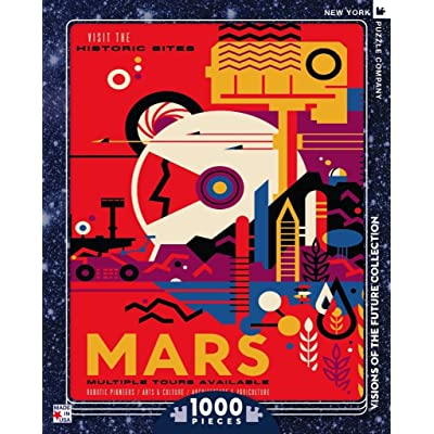 New York Puzzle Company - NASA Visit Mars - 1000 Piece Jigsaw Puzzle: Toys & Games