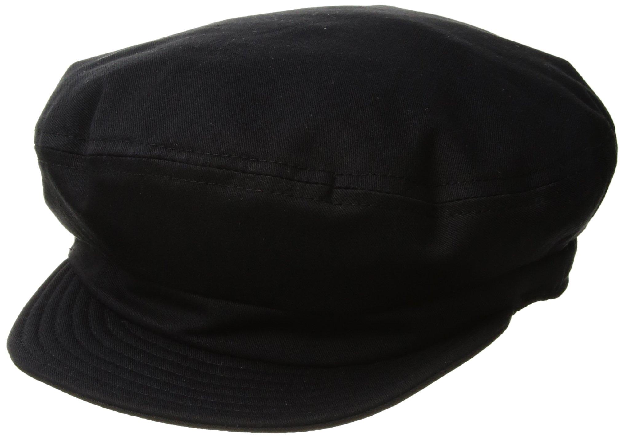 Brixton Men's Fiddler Greek Fisherman Hat, Washed Black, Small