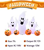 B.N.X 7 Ft Halloween Inflatable Ghosts and Pumpkins Decoration for Home Yard Lawn Indoor Outdoor