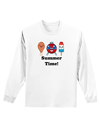 5a8ecf64db36 Amazon.com  TooLoud Summer Time Adult Long Sleeve Shirt  Clothing