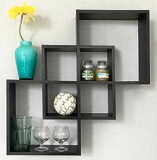 Amazon.com: Ogori Floating Shelves Intersecting wall box shelf ...