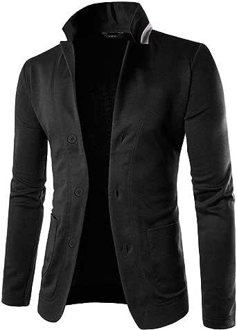 JINIDU Men's Lightweight Cotton 3 Button Casual Suit Blazers Jacket Sport Coats