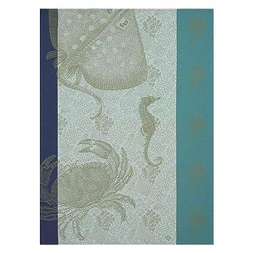 Le Jacquard Francais 25159 - Paño de Cocina (60 x 80 cm), diseño de Fondo de Marins Crabe, Color 30 Pacifique: Amazon.es: Hogar