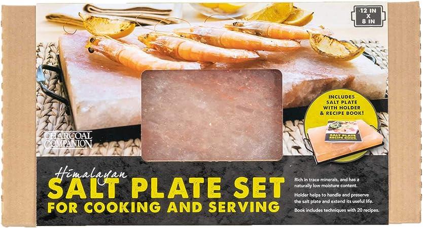 Mahlzeit Plancha//Tabla de Sal del Himalaya I 20,5 x 10,5 x 2,7 cm I para Cocinar Carne y Pescado I para Asar