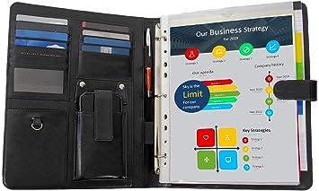 Porte document classeur conférencier pochettes en papier a pour