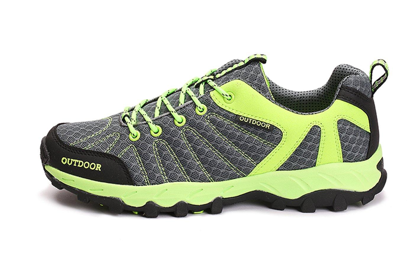 TZTONE Unisex Breathable Quick-Dry Hiking Shoes Mountaineering Shoes for Men Women HS6110136 B075GR97GV 9.5 B(M) US Women = 8 D(M) US Men|Green