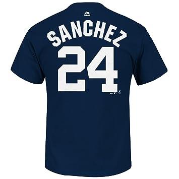new product db2b8 8055b Majestic Athletic Gary Sanchez New York Yankees #24 MLB Men's Player Name &  Number T-Shirt