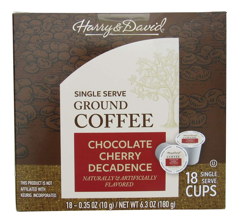Harry & David Chocolate Cherry Decadence Single-Serve Coffee Cups - 18 Count