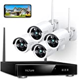 Victure 1080P Wireless Security Camera System, 8 Channel NVR 4PCS Outdoor WiFi Surveillance Camera with IP66 Waterproof, Nigh