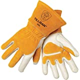 John Tillman and Co 50XL Top Grain Leather MIG Gloves with Split Leather Palm Reinforcements, Split Leather Back, Fleece Lining, Seamless Forefinger and Elastic Back (Carded), X-Large