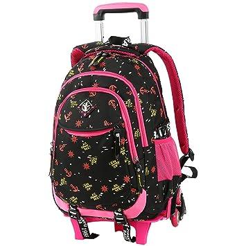 VBG VBIGER Rolling Backpack Wheeled School Backpack for Primary Girls Boys 3b96c3e2f9