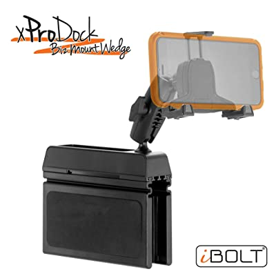 iBOLT xProDock Bizmount Wedge - Heavy Duty Vehicle Console Mount and 2m microUSB Cable for Android Smartphones: Great for Commercial Vehicles, Trucks, and Telematic Commuters