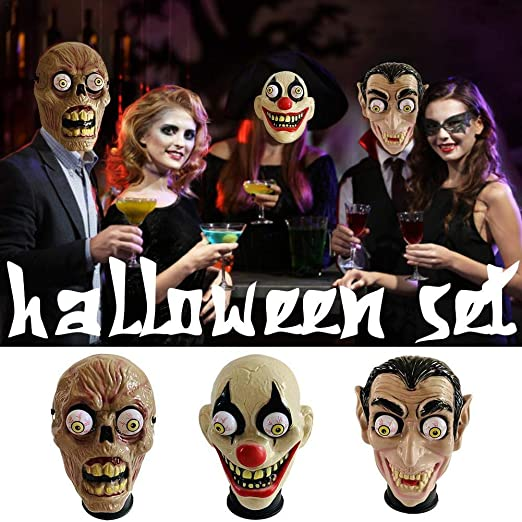 CCSLFF Halloween Spring Eyeball Zombie Cosplay Masks Costume Accessory Masquerade Party Mask