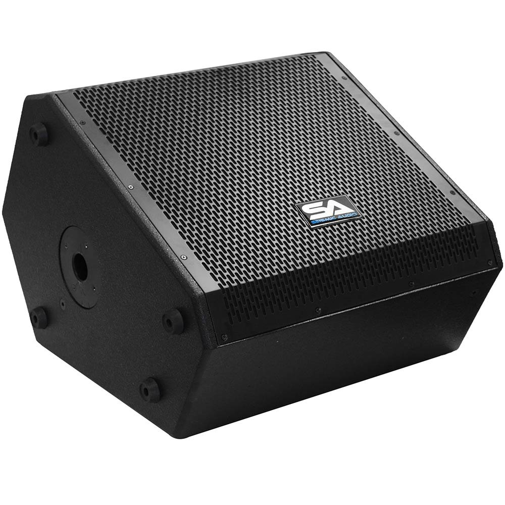 Seismic Audio - SAX-15M - Compact 15 Inch 2-Way Coaxial Floor / Stage Monitor with Titanium Horn - 300 Watts RMS - PA/DJ Stage, Studio, Live Sound 15 Inch Monitor by Seismic Audio