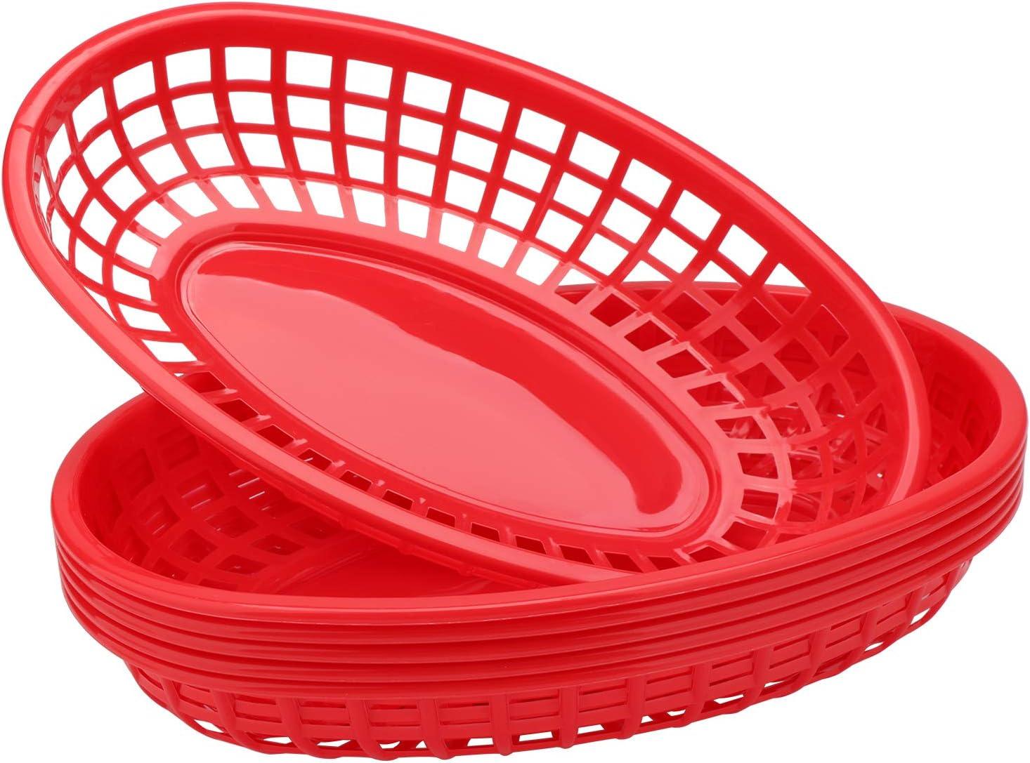 Deli Baskets for Food Serving, Eusoar 6Pcs 9.4