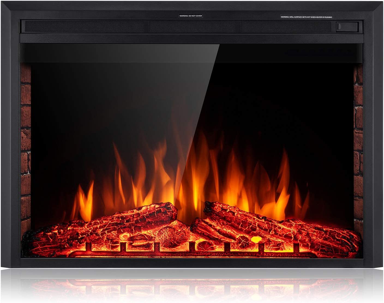 Amazon Com Sunlei 39 Electric Fireplace Insert Freestanding