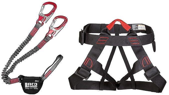 Klettersteigset Lacd : Klettersteigset lacd pro evo red klettersteiggurt stubai vario